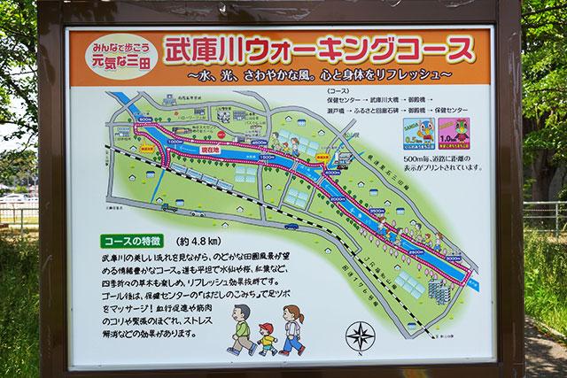 武庫川サイクリングロードのコースマップ