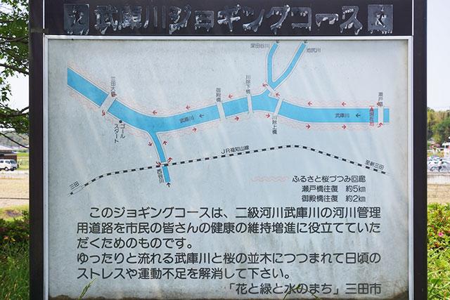 武庫川ジョギングコースのコースマップ