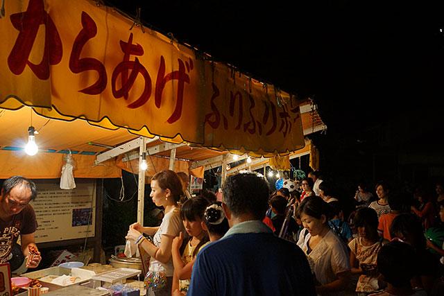 三田天満神社の夏祭で出ていた夜店