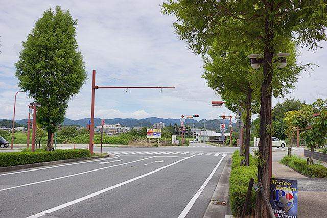 嫁ヶ淵交差点の遠景