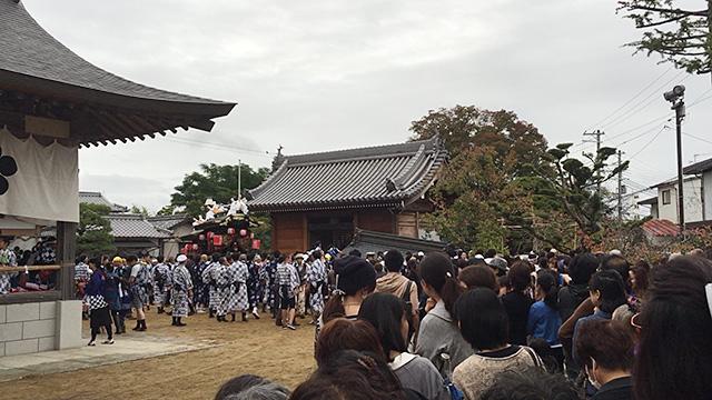 三田天満神社の秋祭りで起きた事故
