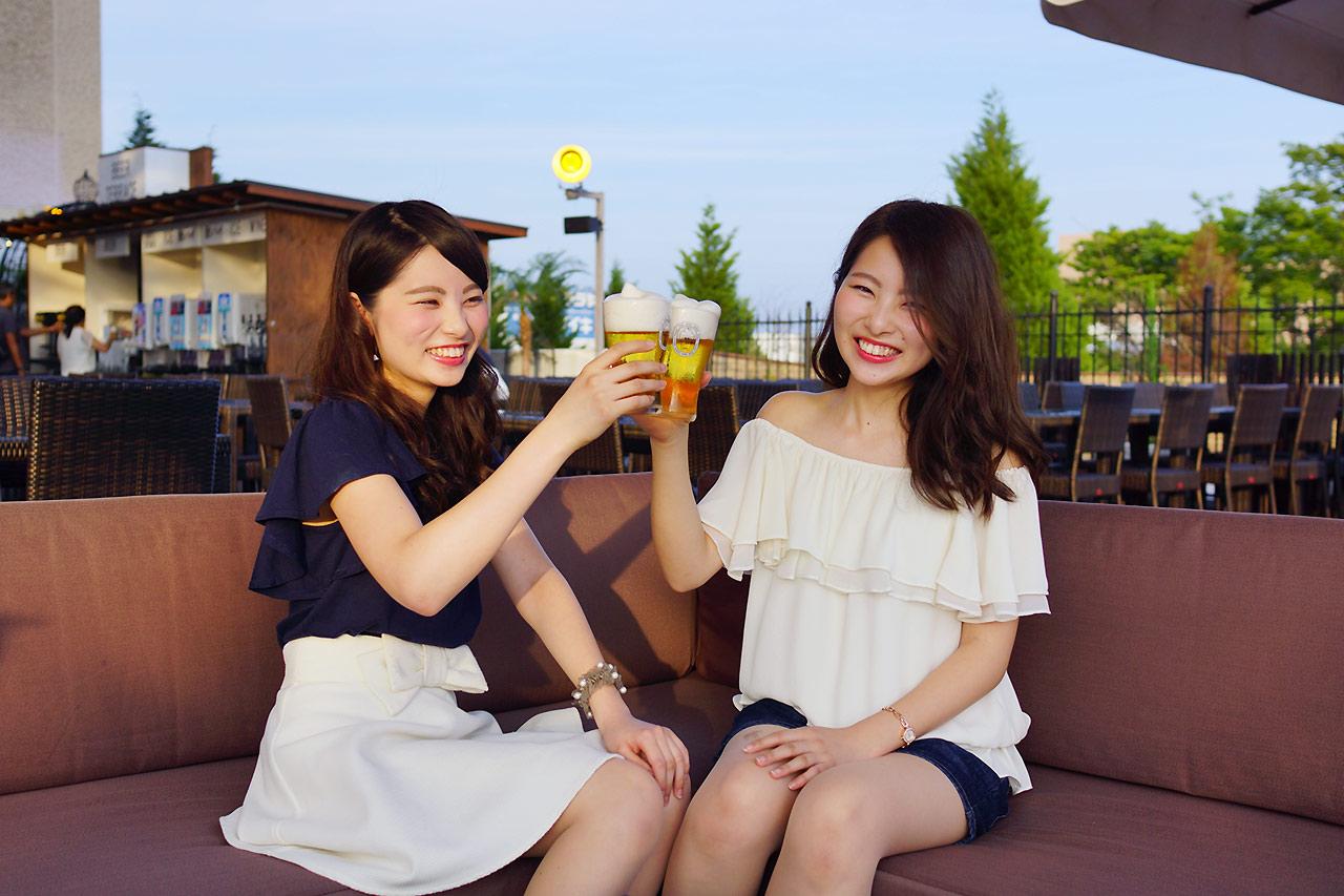 三田ホテルのグルメビアガーデンで乾杯!夏の醍醐味をゴージャス空間で