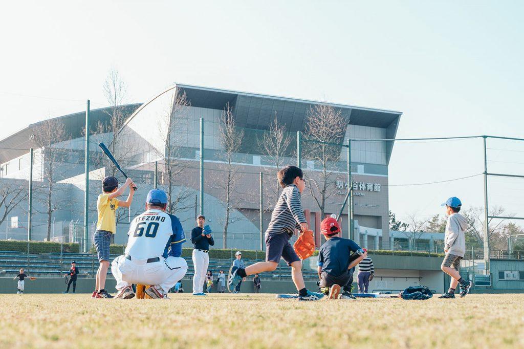 兵庫ブルーサンダーズの小学生野球教室で野球の楽しさをおもいっきり学ぼう!